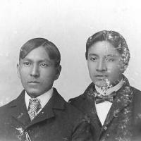 Joseph Flying and Sherman Chadlesome, c.1898