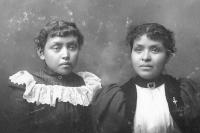 Katie Creager and Seichu Atsye, c.1900