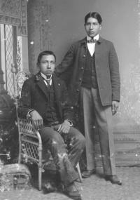 Edward Hensley and Myron Moses, c.1896
