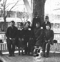 Seven Sioux students [version 1], c.1879
