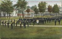 Indian School Band and Girls Quarters, 1909