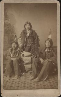 Wounded Yellow Robe, Chauncey Yellow Robe, and Henry Standing Bear [version 1], 1883