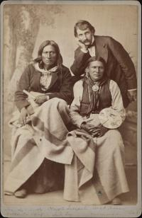 Tso-de-ar-ko, Wild Horse, and an interpreter [version 1], c.1880