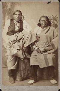 White Man and Stumbling Bear, visiting chiefs [version 1], c.1880