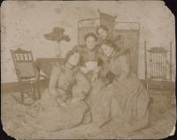 Pearl La Chapelle and Three Unidentified Students, c.1900