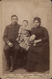 Richard Davis, Nellie Aspenall, and their children [version 1], c. 1891