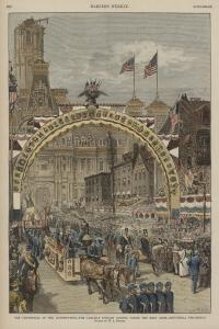 Carlisle Indian Students at the Centennial of the Constitution Parade, #3, 1887