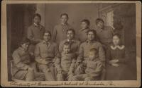 Group of 11 Navajo students, 1883