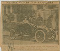 Jim Thorpe in Chalmers Automobile