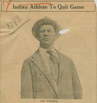 Jim Thorpe in Suit