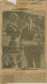 Jim Thorpe with Olympic Trophies, #2, 1912