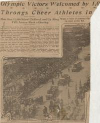 New York Olympic Parade, 1912