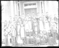 Large group of male and female students #2, c.1892