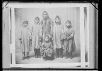 Six Alaskan students upon arrival [version 1], 1897