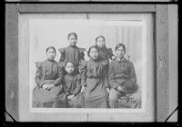 Six Alaskan students after arrival, c.1888
