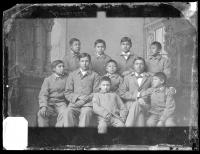 Ten Omaha male students [version 1], c.1883