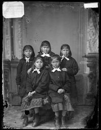 Five female students [version 1], 1880