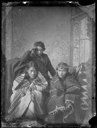 Benjamin Damon, George S. Watchman (Saahtlie), and Stailey Norcross, c.1882