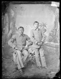 Two unidentified male students #6, c.1882