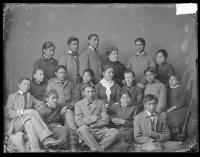 Teacher Mary Hyde and Indian School choir [version 1], 1884