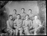 Seven male students [version 1], c.1886