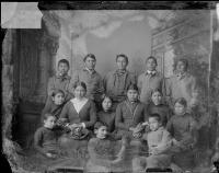 Fourteen Cheyenne students [version 1], c.1883