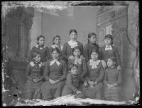 Eleven female Omaha students [version 1], c.1882
