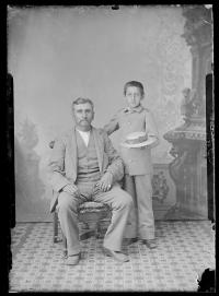 Baptiste Bayhylle and his son Louis Bayhylle [version 1], c.1882