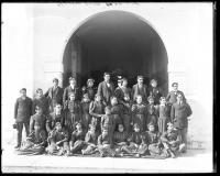 Group of male and female Cherokee students, 1895