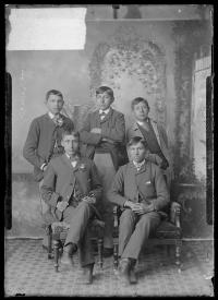 Louis Big Horse, Elmer, Joel Chetopah, Embry Gibson, and Fred Lookout [version 1], c.1884