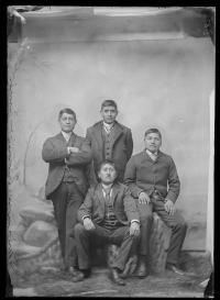 Four identified male students #6, c.1885