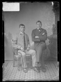 Henry North [?] and an unidentified male student, c.1883