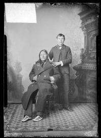 William Fletcher and his uncle, Old Crow, 1884