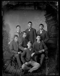 Seven unidentified male students #1, c.1890