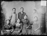Seven unidentified Crow students [version 1], c.1885