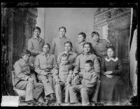 Eleven Navajo students [version 1], 1883