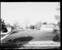 View of the school grounds from the school building, c.1884