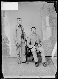Malpass Cloud and an unidentified male student, c.1890
