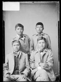 Pete Ocotea, Colton Balcatzah, Grasshopper, and Justin Head [version 1], c. 1885