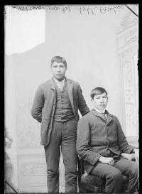 Fred Big Horse and Noble Prentis, c.1885