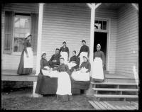 Student nurses and medical staff [version 1], c.1885