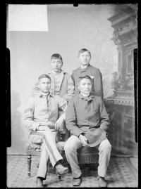 Group of four young men, c.1883