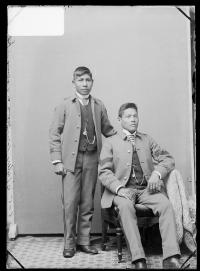 Stailey Norcross and an unidentified male student, c.1883