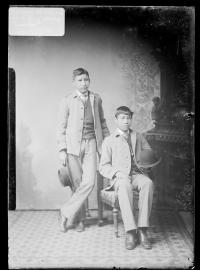 Bertram Mitchell and Clarence White Thunder, c.1883