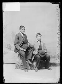 Joshua Asher and Louis Bedell, c.1889