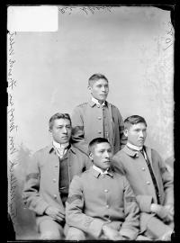 Stacy Matlock, William Morgan, Frank West, and Wilkie Sharp, c.1886