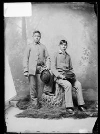 Henry Old Eagle and Louis Crow on Head, c.1890