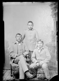 Roland Fish, Hiram Doctor, and Owen Fire [version 1], c.1885