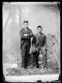 Norman Casadore and an unidentified young man, c.1886