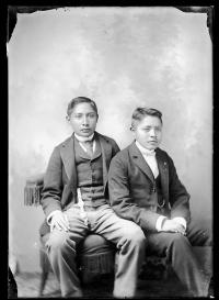 Two unidentified male students #18, c.1890